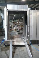 Машина для мойки коптильных рам проходного типа