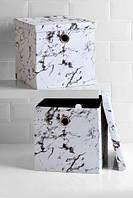 Набор коробок  для хранения вещей с мраморным рисунком