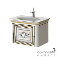 Мебель для ванных комнат и зеркала Botticelli Тумба подвесная Botticelli Treviso T-80 белая, патина медь