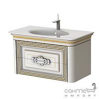 Мебель для ванных комнат и зеркала Botticelli Тумба подвесная Botticelli Treviso T-100 белая, патина медь