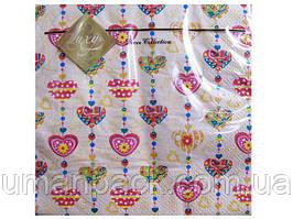 Салфетки бумажные свадебные (ЗЗхЗЗ, 20шт) Luxy  Сладкое сердце (308) (1 пач)