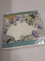 Салфетки бумажные пасхальные (ЗЗхЗЗ, 20шт) Luxy  Пасхальные подснежники 312 (1 пач)