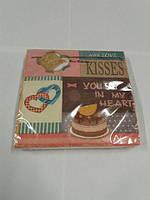 Салфетки бумажные праздничные (ЗЗхЗЗ, 20шт) Luxy  В моем сердце 636 (1 пач)