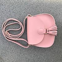 Сумка женская конверт розовая 11416-а