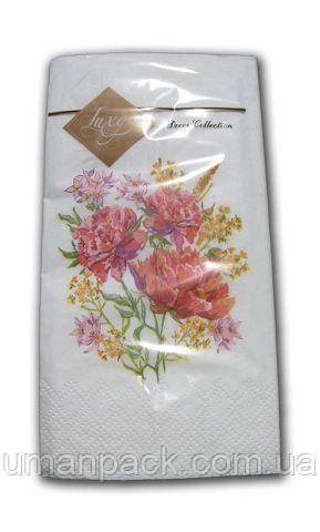 Серветки паперові до свят з малюнками (ЗЗхЗЗ, 10шт) Luxy MINI Літній букет 2009 (1 пач)