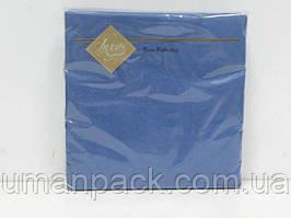 Салфетки бумажные красивые (ЗЗхЗЗ, 20шт) Luxy Синий (3-6) (1 пач)
