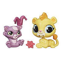 Littlest Pet Shop Литл Пет Шоп Маленький зоомагазин фигурки Pet Pawsabilities Leona Filbert and Cackles Rossi