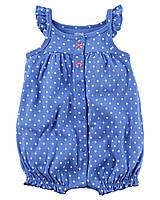 Комбинезон ромпер хлопковый Carters для новорожденной девочки до 55 см