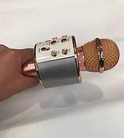 Микрофон караоке WSTER WS - 858 microSD FM радио Wireles mickrophone HIFI speaker