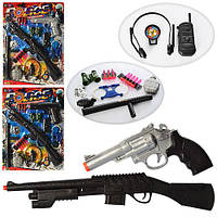 Набор полицейского 999-32-33-34 (48шт) ружье, пистолет,дубинка, гранат,наруч,3вида,на листе,59-44-4см