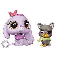 Littlest Pet Shop Литл Пет Шоп Маленький зоомагазин фигурки Pet Pawsabilities Lilac Bennett and Bowzer Newton