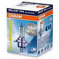 Автолампа галогеновая OSRAM H4 12V 60/55W P43T / ALLSEASON SUPER - НА 30% БОЛЬШЕ СВЕТА