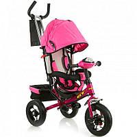 Трёхколёсный велосипед X-Rider GT Trike с надувными колесами Розовый