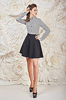 Чёрная модная юбка женская клешик Дорман Размер 42