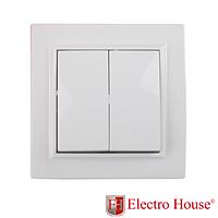 Выключатель двухклавишный Electro House