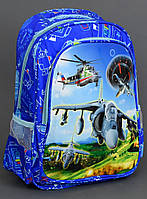 Школьный рюкзак 1, 2 класс + пенал Летачки для мальчиков. Портфель ранец ортопедический для школы