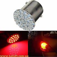 Авто-лампы красные P21W 22 LED (BA15S, 1156, габариты, поворты, стопы, светодиодные лампы для авто)