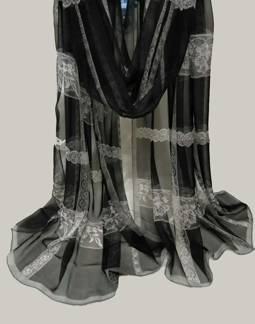 Палантин S брендовый 100% шелк Valentino 70х180см