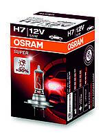 Автолампа галогеновая OSRAM H7 12V 55W PX26D / SUPER - НА 30% БОЛЬШЕ ОСВЕЩЕННОСТЬ ДОРОЖНОГО ПОЛОТНА