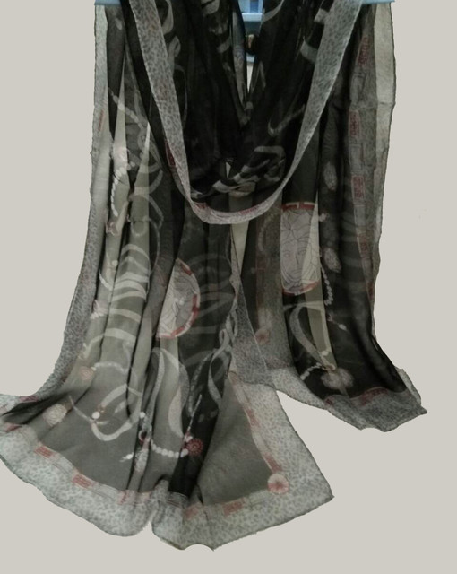 Палантин S брендовый 100% шелк Versace 70х180см