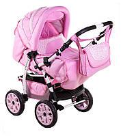 Детская коляска трансформер «Young» Adamex 621138, розовый