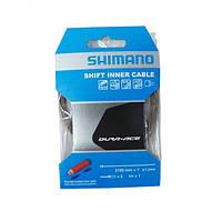 Тросик переключения Shimano XTR/DURA-ACE 2100Х1.2мм, нерж. с полимерн покрытием, концевики в комплекте, инд. упаковка