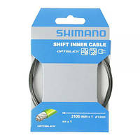 Тросик переключения Shimano Optislik 2100Х1.2мм, нерж, концевик в комплекте, инд. упаковка