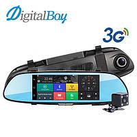 """Зеркало регистратор, 7"""" сенсор, 2 камеры, GPS навигатор, WiFI, 16Gb,SIM card, 3G,Android"""