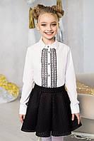 Блузка с кружевом для девочки