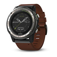 Часы Garmin D2 Charlie Titanium Bezel with Leather and Silicone Bands (010-01733-30)
