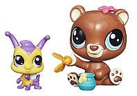 Littlest Pet Shop Литл Пет Шоп Маленький зоомагазин фигурки Happy Honeyman and Brianna Buzzer