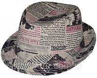 Шляпа детская Бордовая Газета красивая на мальчика, девочку  для праздника или утренника в детский сад