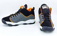 Обувь для баскетбола мужская Jordan (р-р 41-45, черно-серый с оранжевым)