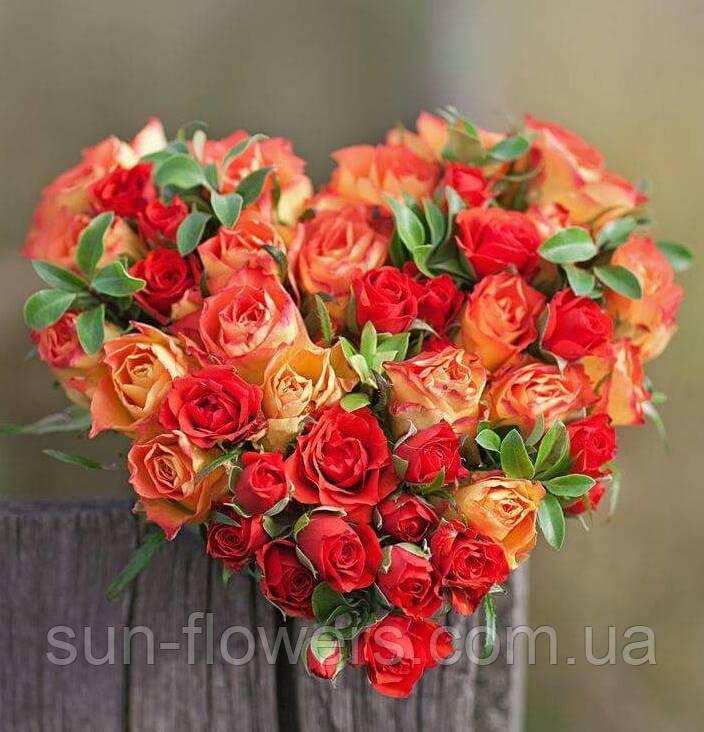 Букет в форме сердца цена, оптово розничная база цветов в спб