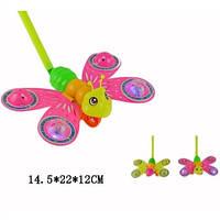 Каталка бабочка 865A  на палке свет 2цв.кул.22*12*14,5 ш.к./240/(865A)