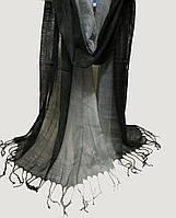 Шарф лен переход  60х160, черный