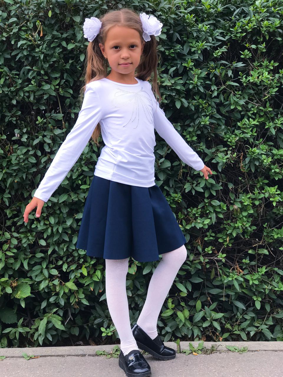 Юбка тёмно-синяя для девочки, Breeze., фото 1