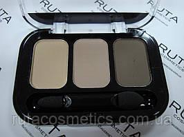 Parisa Cosmetics Eye Shadow Trio тройные тени для век (17) матовые
