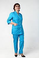 Цветной женский медицинский костюм