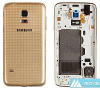Корпус Samsung G800 Galaxy S5 mini | золотой