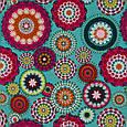 Декоративна тканина принт абстракція синьо-рожеві відтінки, фото 2