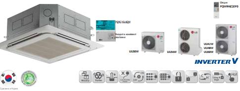 Сплит-система кассетного типа LG UT60W/UU60W/PT-UMC, фото 2