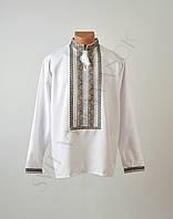 Топ продаж Біла чоловіча вишиванка на довгий рукав з кольоровим орнаментом ручної  роботи 397546c3d2aba
