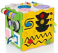 Именной  Бизи Куб Монтессори Развивающая игрушка Бизиборд 1