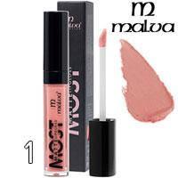 Malva Блеск для губ PM-2001 Most Matte Тон 01 caramel pink матовый