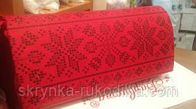 Пошитий клатч (Ukrainian boho) для вишивання льон 100% (Червоний) два кольори у вишивці
