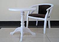 Стол Гранд и кресло Монарх из натурального дерева