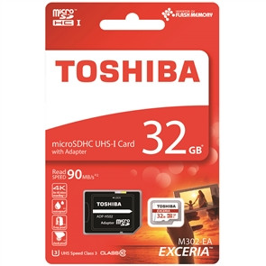 Карты памяти Toshiba Excerial microSDHC 32GB Class 10 UHS-I U3 + SD ад