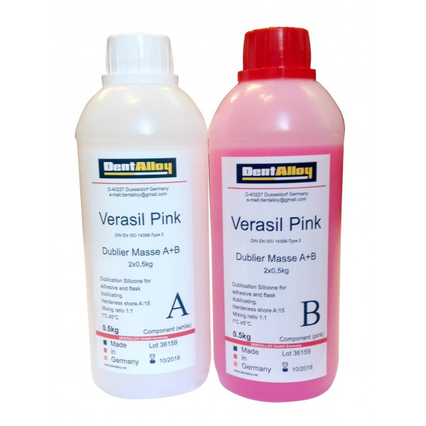 Cиликон для дублирования Verasil Pink, 0,5кг+0,5кг