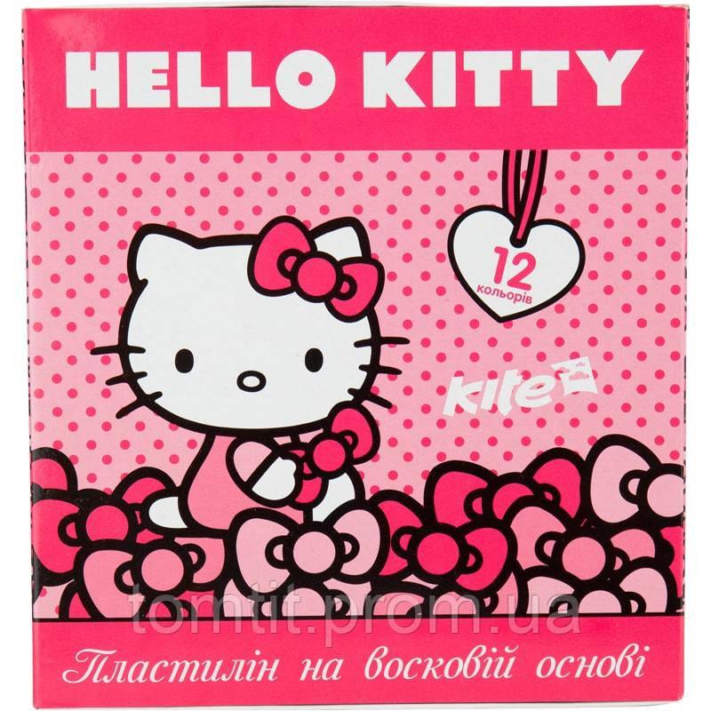 Пластилин восковый «Hello Kitty» 12 цветов, ТМ Kite